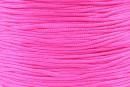 Snur matase pentru bratari, roz neon, 0.8mm - x5m
