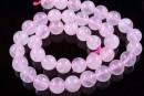 Pink quartz, round, 12.2mm