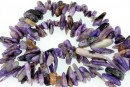 Charoite, free form chips, 13-22mm