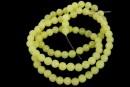 Light olive jade, round, 4mm