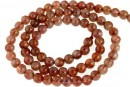 Natural clear sunstone, intense colour, A+ grade, round, 5mm