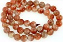 Natural sunstone, A+ grade, round, 7mm