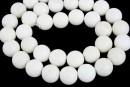 White onyx, round, 10mm