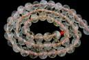 Rutiladed quartz, round, 7.5mm