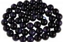 Blue goldstone, round, 8.5mm