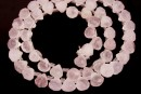 Pink quart, natural, diamond faceted briolette, 8x7.5mm