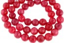 Jade, faceted round, pink, 8mm