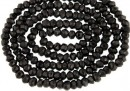 Black spinel, natural, faceted rondelle, 2,7-3mm