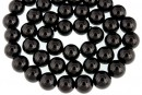 Black spinel, natural, round, 8mm