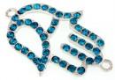 Link, mana lui Fatima, blue zircon, 39x30mm - x1