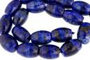 Lapis lazuli natural, round tube, 19x13mm