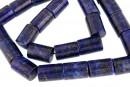 Lapis lazuli natural, tube, 14x10mm
