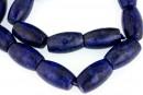 Lapis lazuli natural, round tube, 20x12mm