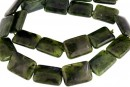 Natural nephrite jade, flat rectangle, 18x13mm