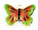 Pandantiv cloisonne, fluture, 20x27mm - x1