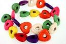 Multicolor magnesite, heart, 20x20mm