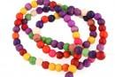 Multicolor magnesite, round, 4.5mm