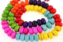 Multicolor magnesite, rondelle, 8x5mm