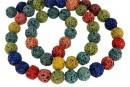 Lava, multicolor, round, 8.5mm