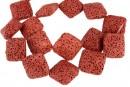 Lava, red brick, square, 23.5x23.5mm