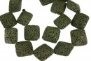 Lava, intense green, square, 23.5x23.5mm