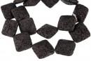 Lava, black, square, 23.5x23.5mm