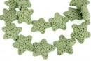 Lava, green, star, 25x24mm