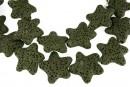 Lava, intense green, star, 25x24mm