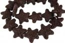 Lava, brown, star, 25x24mm