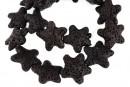 Lava, black, star, 25x24mm