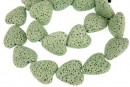 Lava, green, heart, 22x21mm