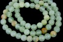 Rainbow jade, round, green, 6.5mm