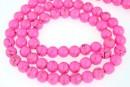 Howlite, syntethic, round, pink, 6mm