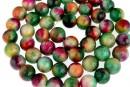 Jade, round, multicolor, 8.5mm