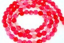 Agate, crab fire, faceted round, pink, 4mm