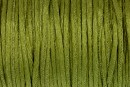 Snur satin, verde oliv, 1.5mm - 5m