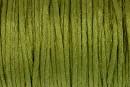 Snur satin, verde oliv, 1.5mm - 5m