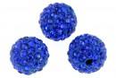 Margele shamballa, cobalt blue, 12mm - x2