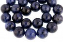 Dumortierite, round, 14.5mm