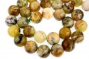 Natural yellow opal, round, 12mm