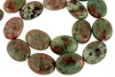 Natural green garnet, flat oval, 20x15mm