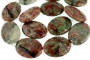 Natural green garnet, flat oval, 30x22mm