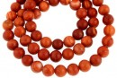 Red wood lace jasper, round, 6mm