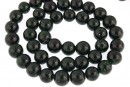 Green goldstone, round, 6mm