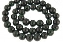 Green goldstone, round, 8mm