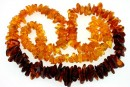 Baltic amber, necklace chips, 9.5-20mm