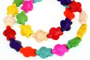 Multicolor magnesite, turtle, 14.5mm