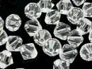 Swarovski, margele bicone, crystal clear, 6mm - x10