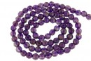 Amethyst intense, natural, faceted round, 4mm
