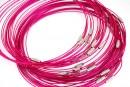Baza colier, roz fuchsia  - x3